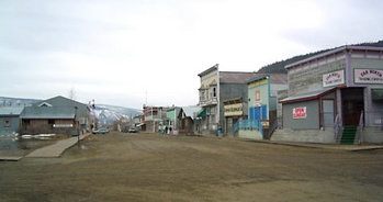 Dawson City, Yukon, scene of the Klondike Gold Rush.