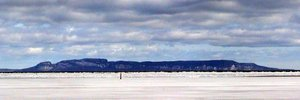 The Sleeping Giant, can be seen opposite Thunder Bay in Northwestern Ontario.
